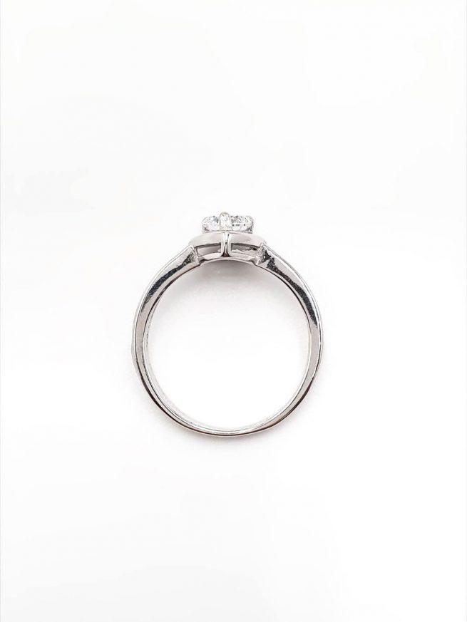 Love Silber Ring mit Kristall 2
