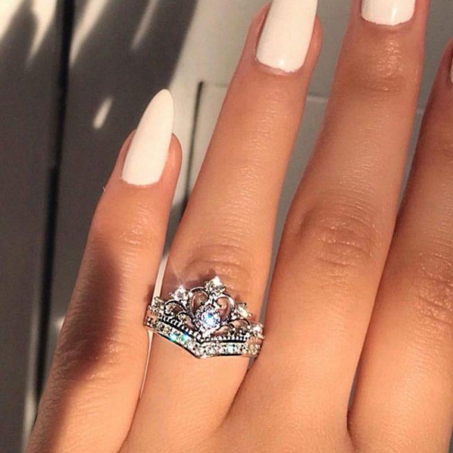 Modischer Krone Ring 2