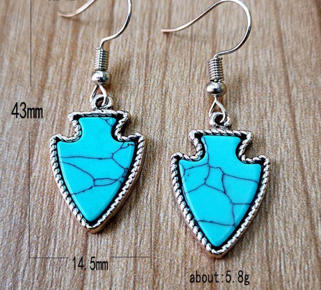 Modische Ohrringe Himmel Blau 3