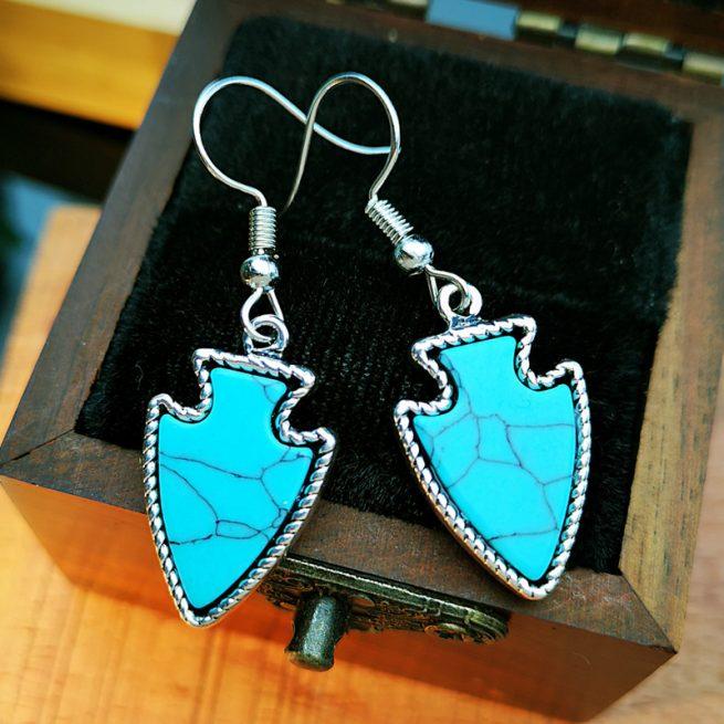 Modische Ohrringe Himmel Blau 2