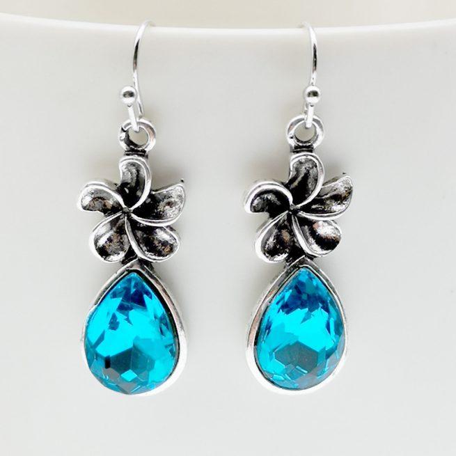 Blaue Ohrring