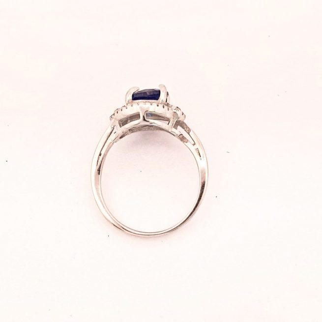 Blauer Stein Silberring Arina 1