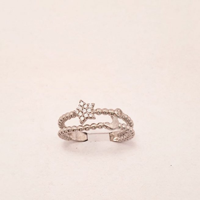 Silberring one size 1