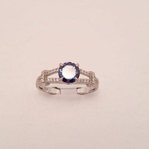 Silberring Blau