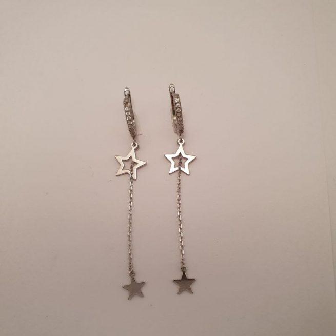 Silber Stern Ohrring 1