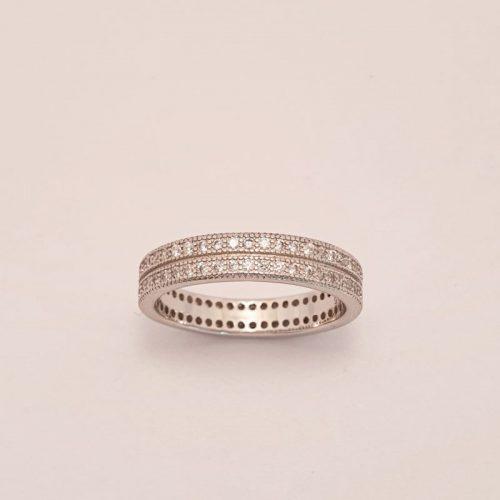 Verlobungsring Silber Luna
