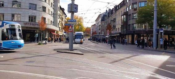 Sernen-Oerlikon-Tram My Silver Standort und Anfahrt